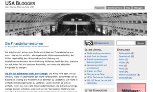 screenshot of USA-Blogger.de