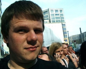 Thomas Furlong at the site of the 2008 Obama Speech in Berlin