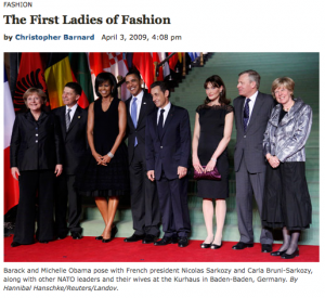 The First Ladies of Fashion - Screenshot from vanityfair.com